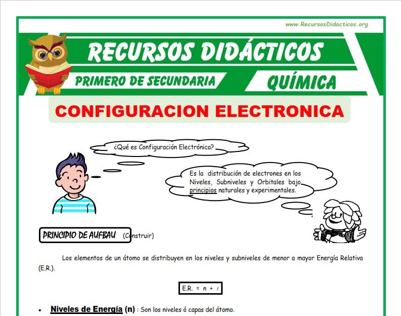 ficha de Configuracion Electronica para Primero de Secundaria