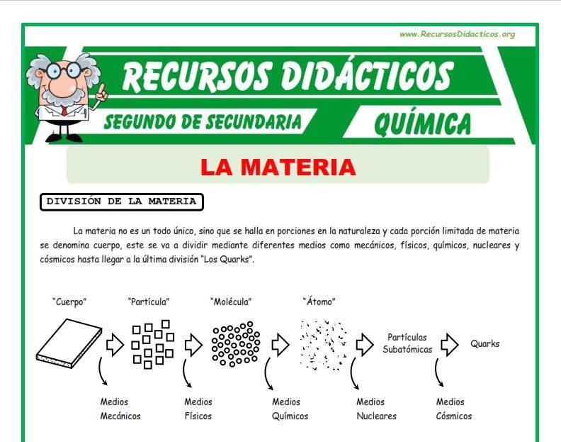 Ficha de Definición de la Materia para Segundo de Secundaria
