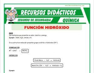 ficha de Función Hidróxido para Segundo de Secundaria
