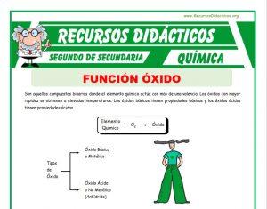 Ficha de Funcion Oxido para Segundo de Secundaria