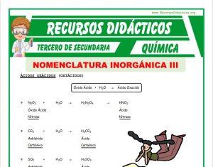 Ficha de Función Sal para Tercero de Secundaria