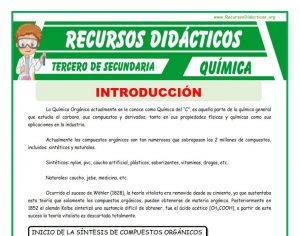 Ficha de La Química Orgánica para Tercero de Secundaria