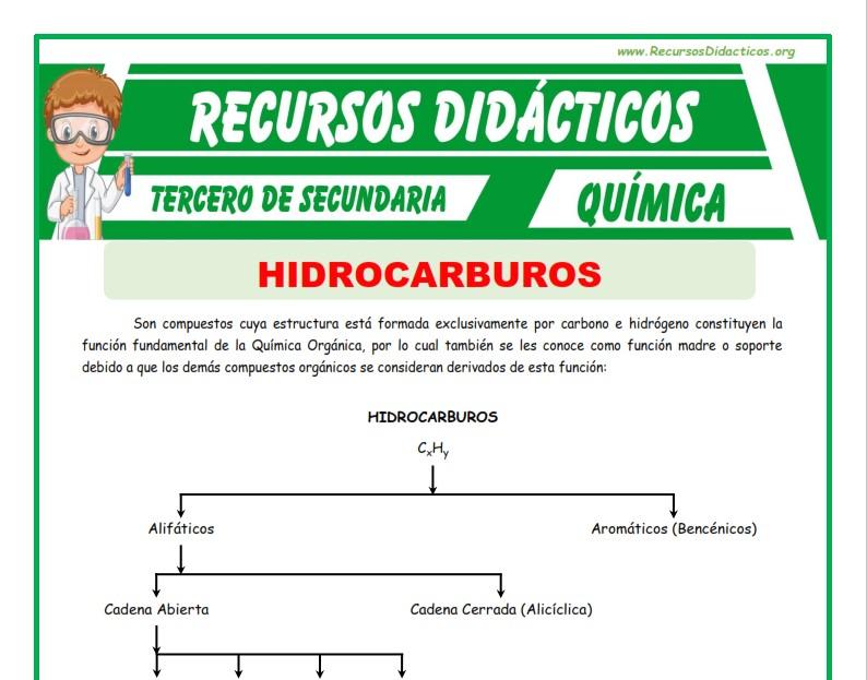 Ficha de Los Hidrocarburos para Tercero de Secundaria