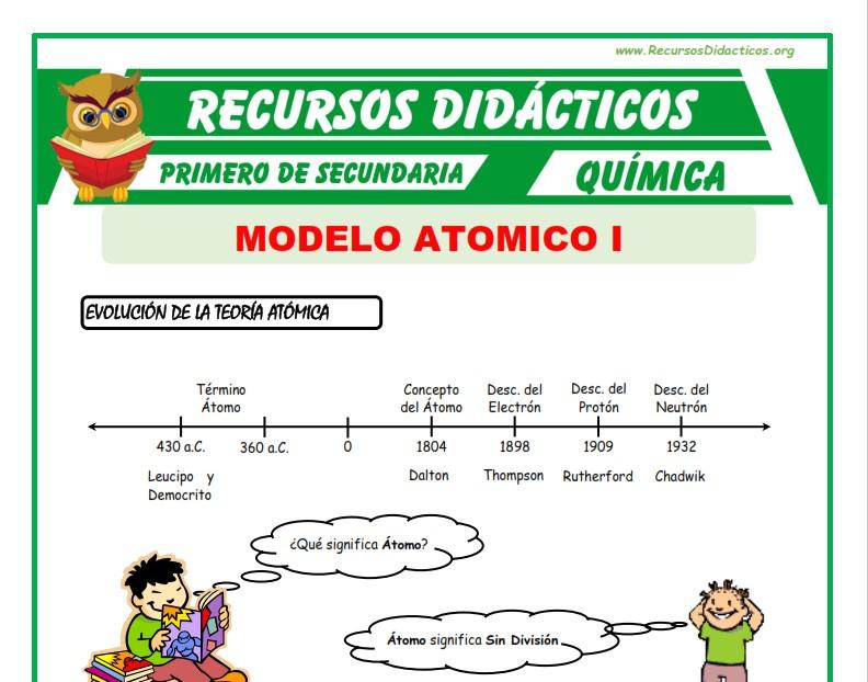 ficha de Modelo Atomico para Primero de Secundaria