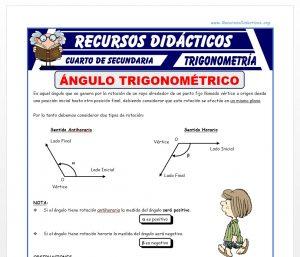Ficha de Ángulo Trigonométrico para Cuarto de Secundaria