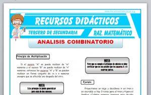 Ficha de Análisis Combinatorio 1 para Tercero de Secundaria