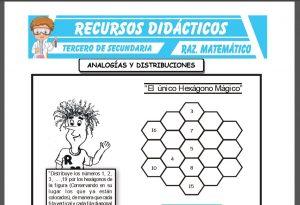 Ficha de Analogias y Distribuciones para Tercero de Secundaria