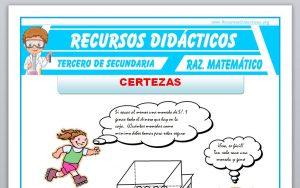 Ficha de Certezas Ejercicios para Tercero de Secundaria