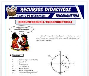 Circunferencia Trigonométrica para Cuarto de Secundaria