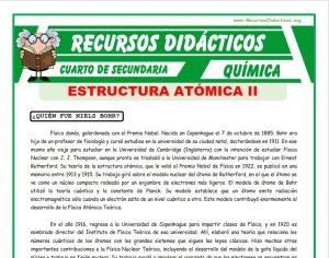 Ficha de Clasificación de los Nucleídos para Cuarto de Secundaria