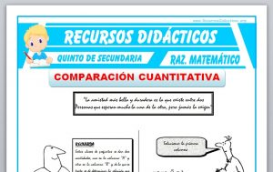 Ficha de Comparación Cuantitativa para Quinto de Secundaria
