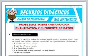 Ficha de Comparacion Cuantitativa para Cuarto de Secundaria
