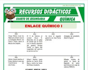 Ficha de Conceptos Básicos de Enlace Químico para Cuarto de Secundaria