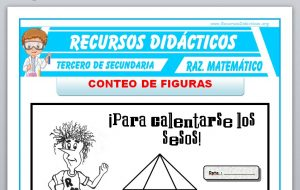 Ficha de Conteo de Figuras Ejercicios para Tercero de Secundaria
