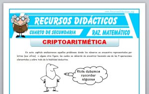 Ficha de Criptoaritmética Ejercicios para Cuarto de Secundaria