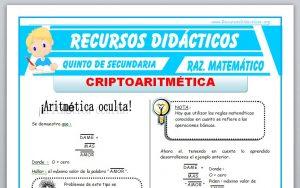 Ficha de Criptoaritmética para Quinto de Secundaria