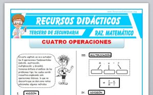 Ficha de Cuatro Operaciones para Tercero de Secundaria