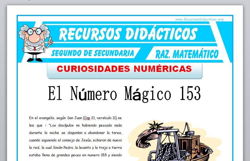 Ficha de Curiosidades Numéricas para Segundo de Secundaria