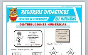 Ficha de Distribuciones Numericas para Primero de Secundaria