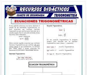 Ficha de Ecuaciones Trigonométricas 1 para Cuarto de Secundaria