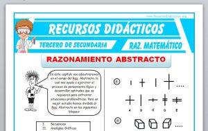 Ficha de Ejercicios de Razonamiento Abstracto para Tercero de Secundaria
