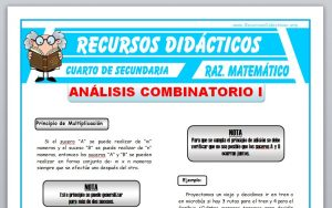 Ficha de Ejercicios de Análisis Combinatorio para Cuarto de Secundaria