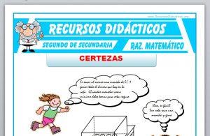 Ficha de Ejercicios de Certezas para Segundo de Secundaria