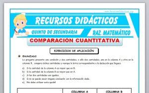 Ficha de Ejercicios de Comparaciones Cuantitativas para Quinto de Secundaria