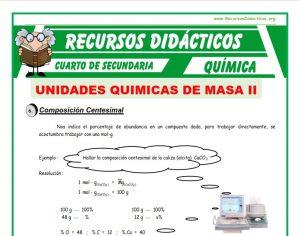 Ficha de Ejercicios de Composición Centesimal para Cuarto de Secundaria
