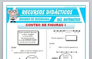 Ficha de Ejercicios de Conteo de Figuras para Segundo de Secundaria