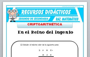 Ficha de Ejercicios de Criptoaritmética para Segundo de Secundaria