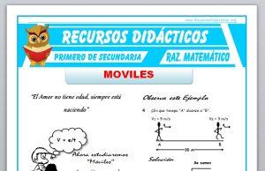 Ficha de Ejercicios de Móviles para Primero de Secundaria