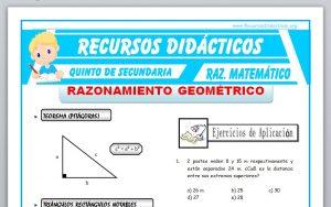 Ficha de Ejercicios de Razonamiento Geométrico para Quinto de Secundaria