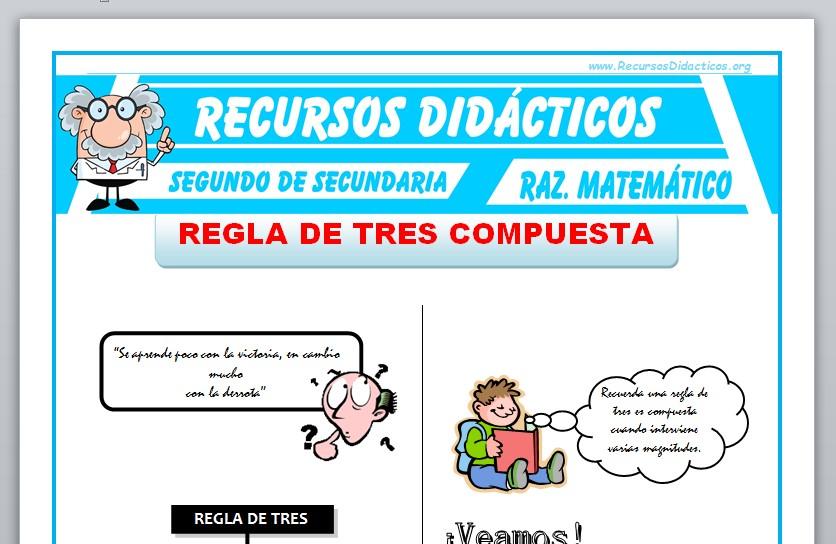 Ficha de Ejercicios de Regla de Tres Compuesta para Segundo de Secundaria