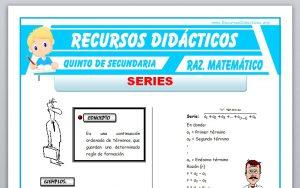 Ficha de Ejercicios de Series para Quinto de Secundaria