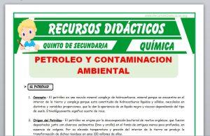 El Petróleo y la Contaminación Ambientalpara Quinto de Secundaria