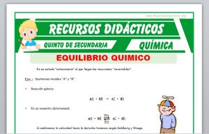Ficha de Equilibrio Químico para Quinto de Secundaria