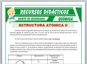 Ficha de Especies Atómicas para Quinto de Secundaria