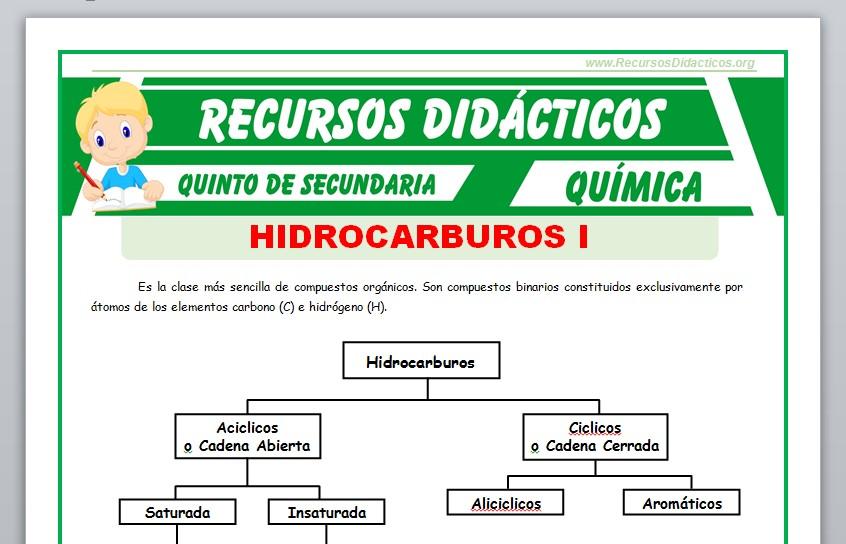 Ficha de Hidrocarburos Saturados para Quinto de Secundaria