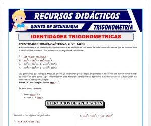 Ficha de Identidades Trigonométricas para Quinto de Secundaria