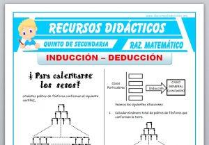 Ficha de Inducción y Deducción para Quinto de Secundaria