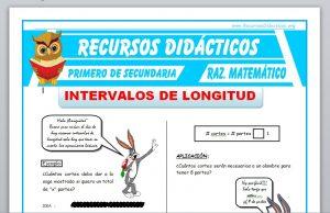 Ficha de Intervalos de Longitud para Primero de Secundaria
