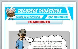 Ficha de Introducción a las Fracciones para Cuarto de Secundaria