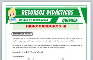 Los Hidrocarburos Cíclicos y Aromáticospara Quinto de Secundaria