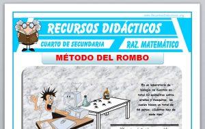 Ficha de Método del Rombo para Cuarto de Secundaria