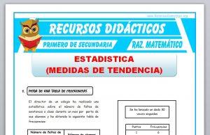 Ficha de Medidas de Tendencia para Primero de Secundaria