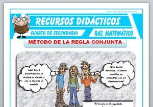 Ficha de Método de la Regla Conjunta para Cuarto de Secundaria
