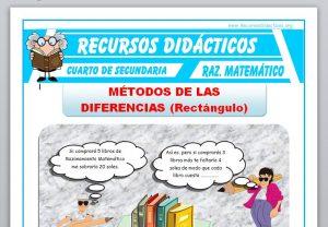 Ficha de Método de las Diferencias para Cuarto de Secundaria
