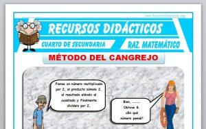 Ficha de Método del Cangrejo para Cuarto de Secundaria