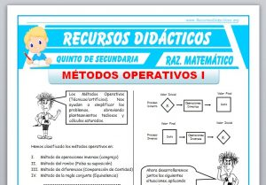 Ficha de Métodos Operativos 1 para Quinto de Secundaria